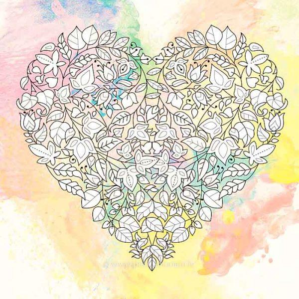 Zen zīmējums. Ziedu mīlestība